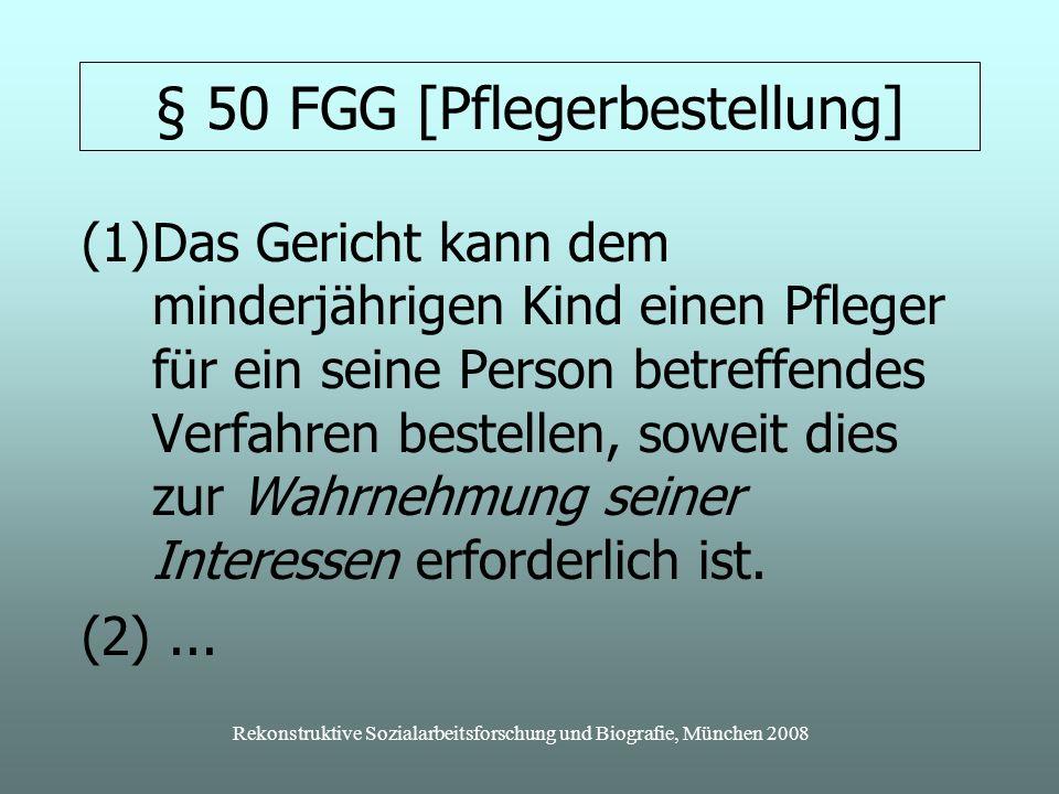 § 50 FGG [Pflegerbestellung]